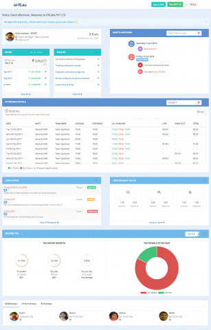 New Employee Dashboard in PRIS